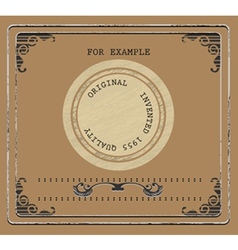 Vintage product label vector image