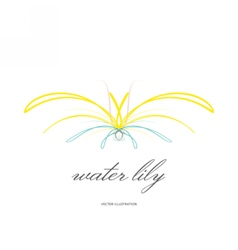 Water lily lined icon vector