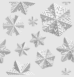 winter seamless background with snowflakes winter vector image