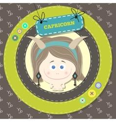 Zodiac signs collection horoscope - capricorn vector