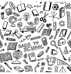School supplies seamless vector image