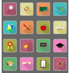 school education flat icons 20 vector image