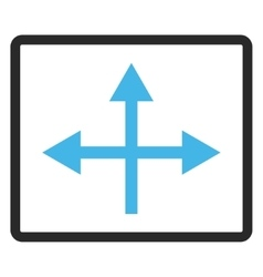 Intersection directions framed icon vector