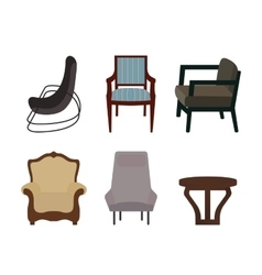 Set of furniture modern flat style vector