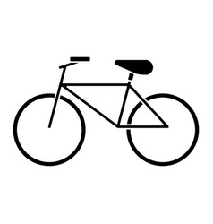 bicycle recreation transport pictogram vector image