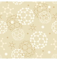 Molecules seamless pattern background vector image