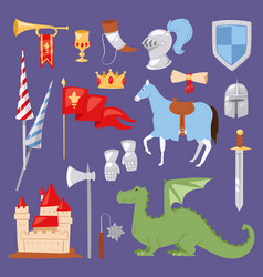 middle ages medieval knight heraldic royal crest vector image