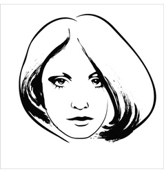 Sad woman vector