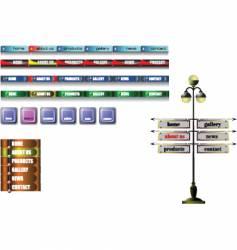 Navigation bar vector