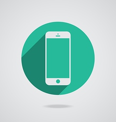 Mobile iphone in white line vector