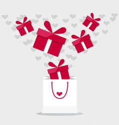 Happy valentines day Valentines day gift bag with vector image