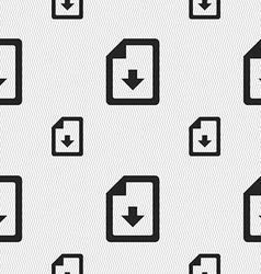 Import download file icon sign seamless pattern vector
