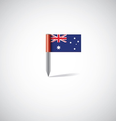 Australia flag pin vector
