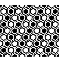 Design seamless monochrome hexagon pattern vector