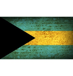 Flags bahamas with dirty paper texture vector