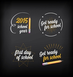 Back to school badges design elements vector
