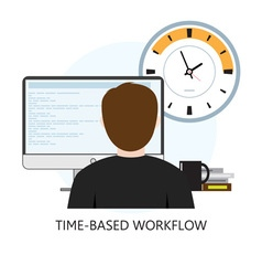 Time-based workflow icon vector