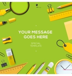 Workspace background with copy space for your text vector
