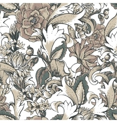 Vintage baroque seamless pattern with swirls and vector