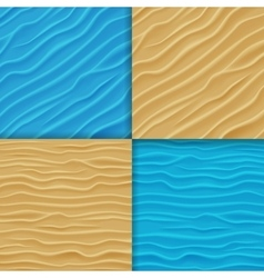 Set of water and sand waves backgrounds vector