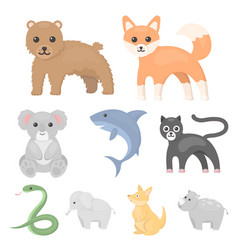 Animals set icons in cartoon style big collection vector