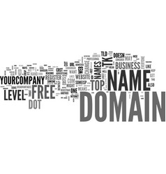 Are free domain names worth the cost text word vector