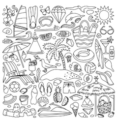 Beach Holiday Set vector image