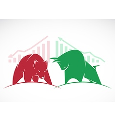 Bears and bulls vector image vector image