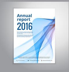 business annual report leaflet brochure flyer vector image