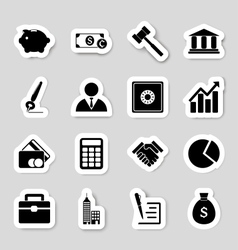 Business icons stikers vector image