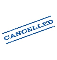 Cancelled watermark stamp vector