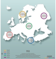 Europe continent template for infographics vector