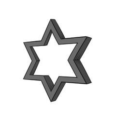 Geometric figure star icon black monochrome style vector