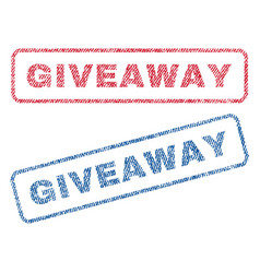 Giveaway textile stamps vector