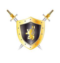 Gold-shield vector