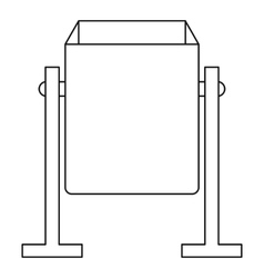 Metal dust bin icon outline style vector