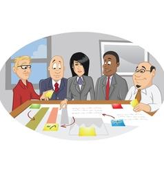 Office employee brainstorming vector