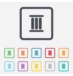 Roman numeral three icon roman number three sign vector