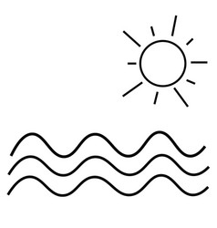 sea icon vector image vector image