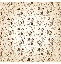 seamless wallpaper background grapes decor vintage vector image