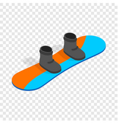 Snowboard with boots isometric icon vector