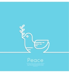 Symbol of peace dove vector