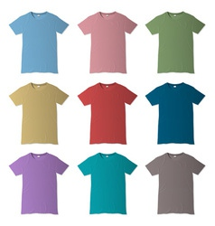 T shirt design templates in various colors vector image vector image