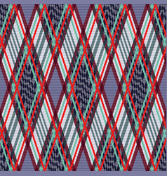 Tartan seamless rhombus texture in many colors vector