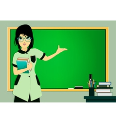 Teacher in class vector