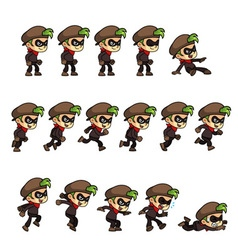 Thief Boy Game Sprites vector image