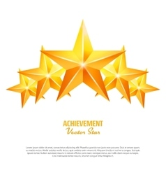Three achievement stars yellow sign vector