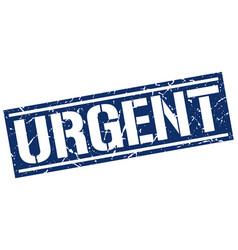Urgent square grunge stamp vector