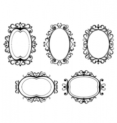 vintage frames and borders vector image