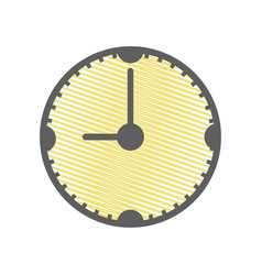 yellow clock to know the time of day vector image
